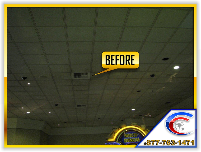 Ceiling Cleaning Before Photo Of A Casino Ceilings, Which Was Revealed Edge  And 9/ ...