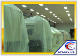 Ceiling Cleaning - We protect the Investments of our Customers by Covering Everything
