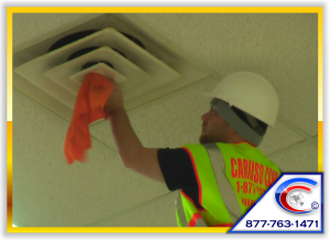 Ceiling Cleaning Specialist will Detail your Ceiling Diffusers by Polishing it as well