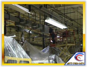 Exposed Overhead Structure cleaning for Manufacturing Plant