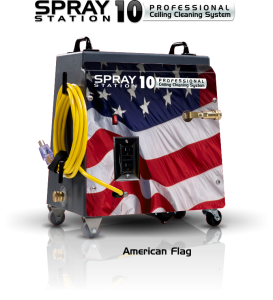 Ceiling Cleaning Machine and Equipment Spray Station 10 - America Flag - Model 100101