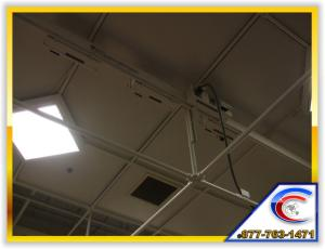 Exposed Structure Cleaning of a specialty ceiling system for a large retailer