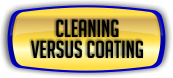 Ceiling Cleaning - Cleaning versus Coating.