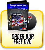 Order our Free DVD Presentation about Ceiling Cleaning and Exposed Structure Cleaning and more.