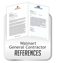 Ceiling Cleaning Letters of Testimony for Cleaning and Restoration from General Contractors working for Wal-mart Stores