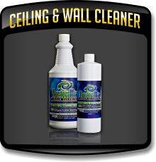Ceiling & Wall Cleaning Solutions used by the Caruso Care, Inc. - NCWLN and it's SERVICE CENTERS.