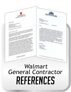 references for cleaning acoustical ceiling for general contractors doing work for Wal-Mart.