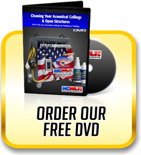 Order your free DVD that contains ceiling cleaning and ceiling restoration information.