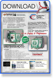 Super Spray Station 10 - Ceiling Cleaning Machine Spec Sheet