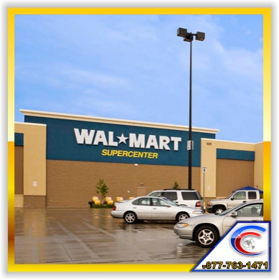 Walmart Stores Cleans their acoustical ceiling and restores their acoustical ceilings through ceiling restoration.