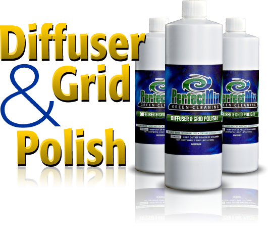 Perfect Mix™ Diffuser & Grid Polish that will restore your diffusers and grids to look like new again.