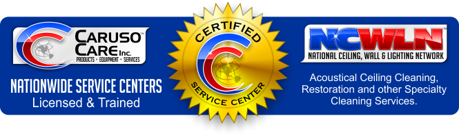 Certified Ceiling Cleaning Service Center Logo.